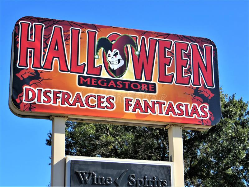 Halloween Megastore stockfoto