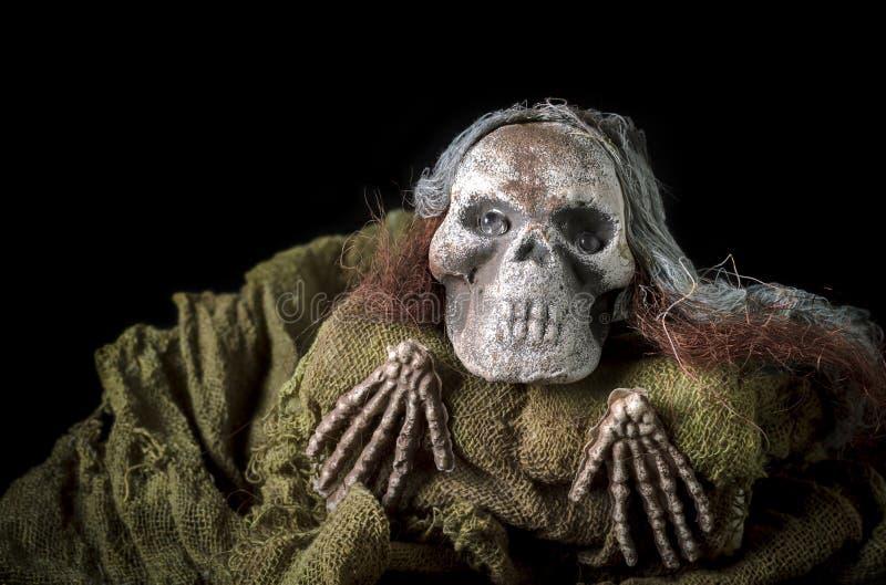 Halloween-Menschenskelett lizenzfreies stockbild