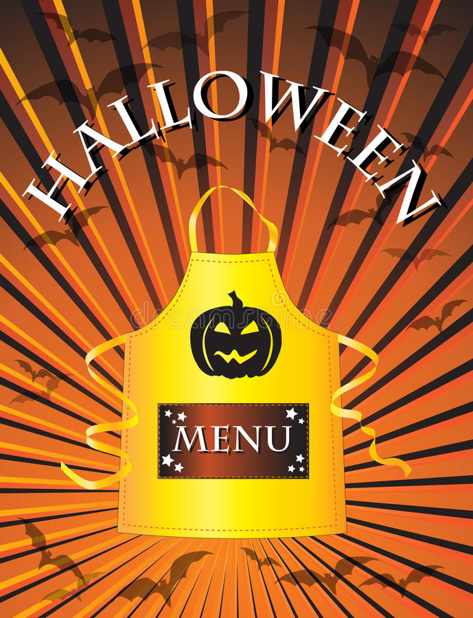 halloween menu ilustracja wektor