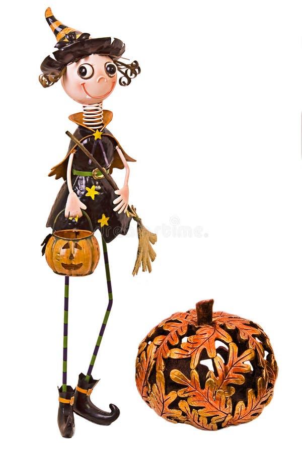 Halloween-Metallhexe lizenzfreies stockfoto