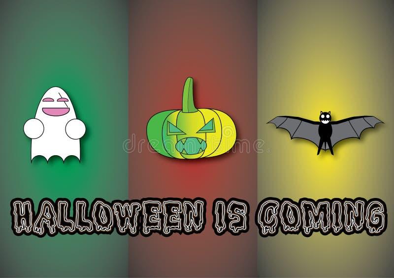 Halloween mit dem unterschiedlichen Charakter stockfotos