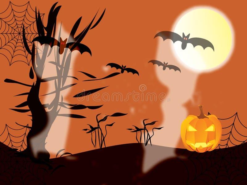 Halloween mit Geistern vektor abbildung