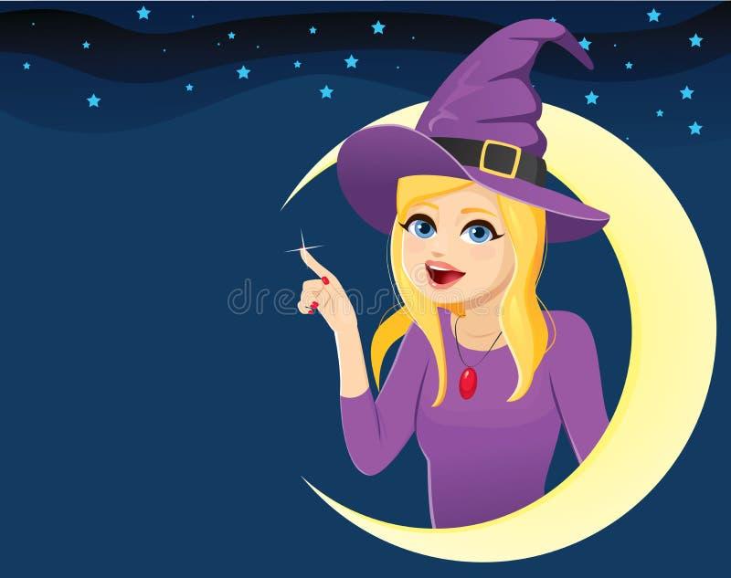 Halloween-Mond-Hexen-Stern-Hintergrund lizenzfreie abbildung