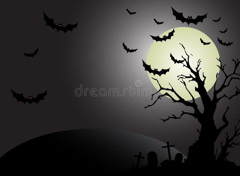 Halloween-Mondhintergrund stock abbildung