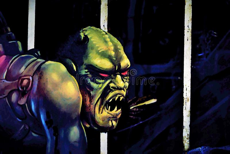 Halloween Monster stock photo