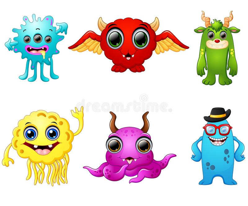 Halloween monster set collection royalty free illustration