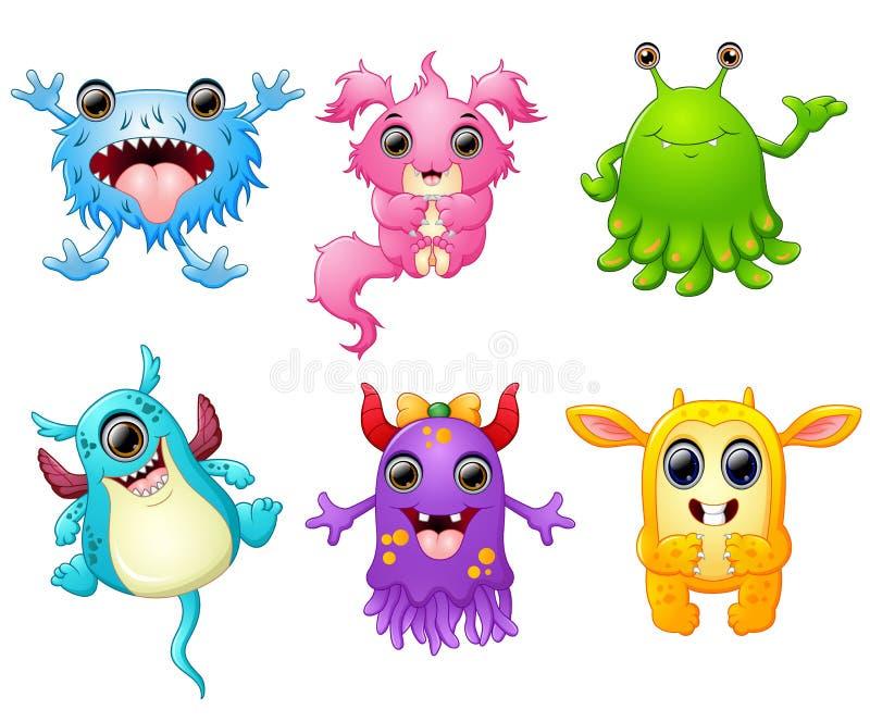 Halloween-monster vastgestelde inzameling royalty-vrije illustratie