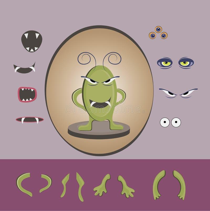 Halloween-Monsterdesignsatz stockbild