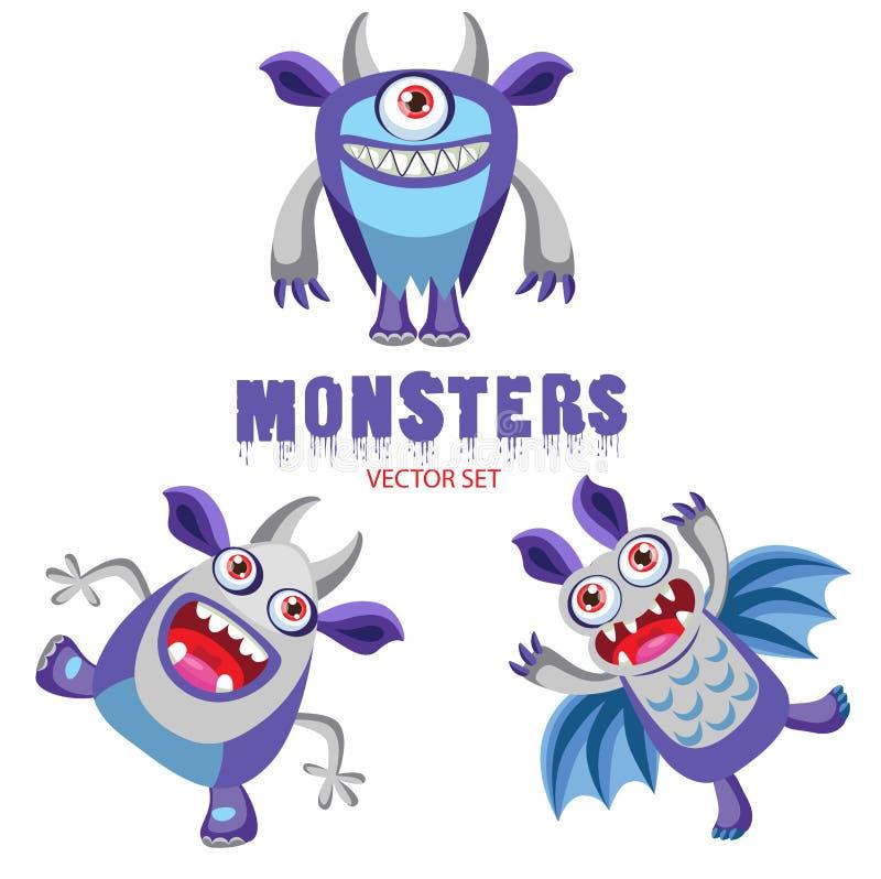 Halloween-monsters Kleurrijke Monsters voor Jonge geitjes Halloween-Kostuumideeën Halloween-streken stock illustratie