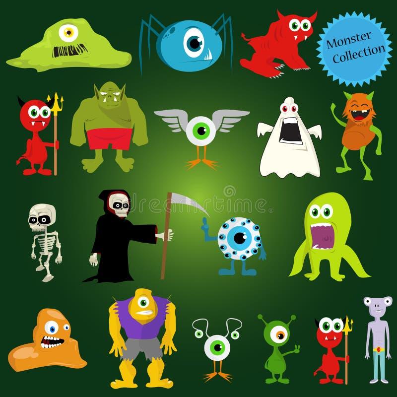 halloween monstervektor royaltyfri illustrationer