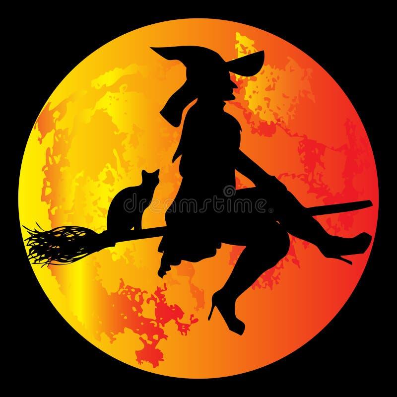 halloween moon vektor illustrationer