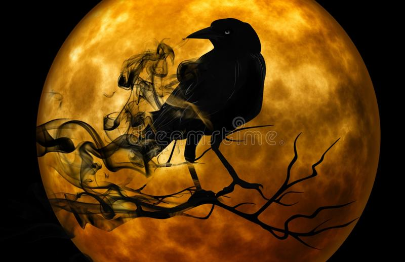 Halloween, Moon, Pumpkin, Computer Wallpaper royalty free stock image