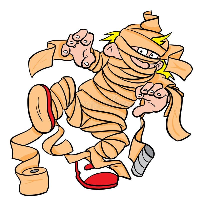 Halloween Mummy Costume stock illustration