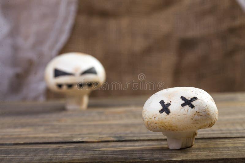 Halloween mushroom ghost royalty free stock images