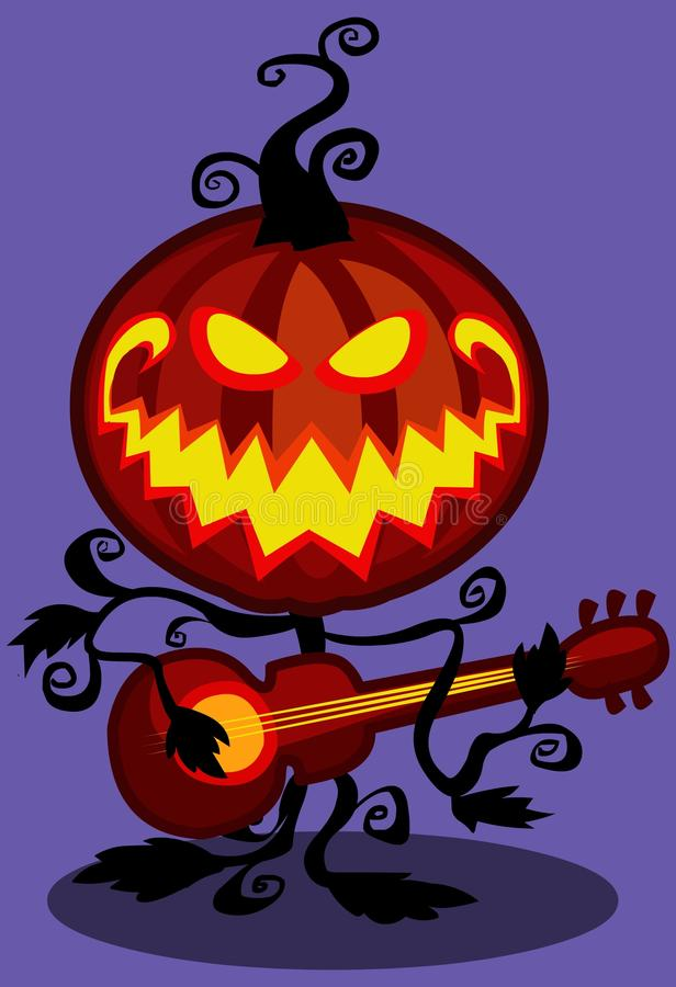 Halloween musical pumpkin royalty free stock image