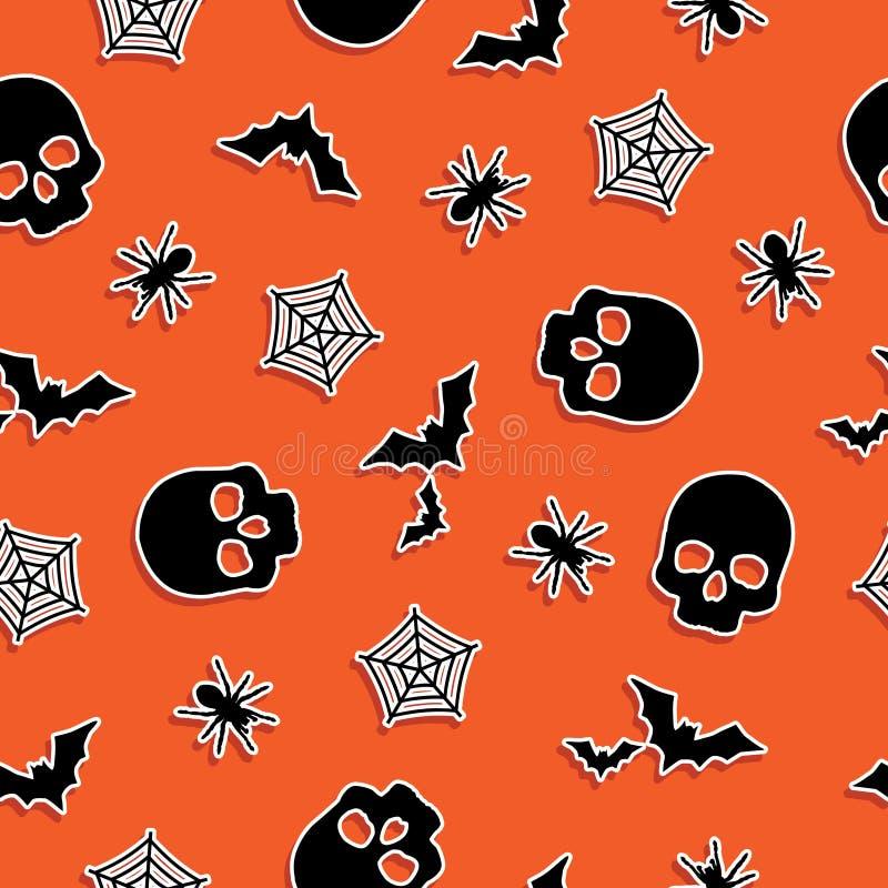 Halloween-Muster vektor abbildung