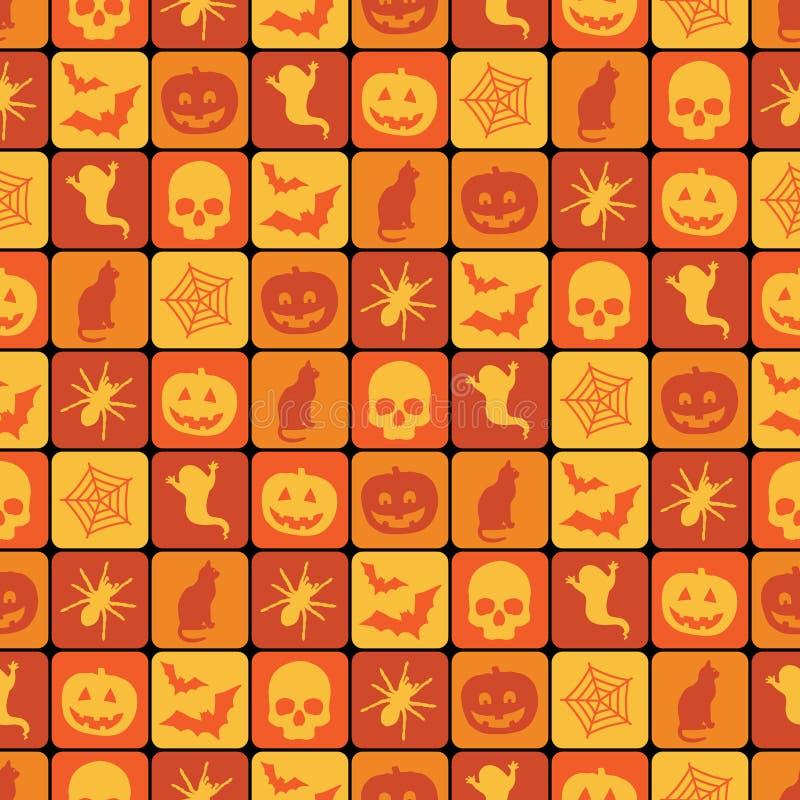 Halloween-Muster stock abbildung