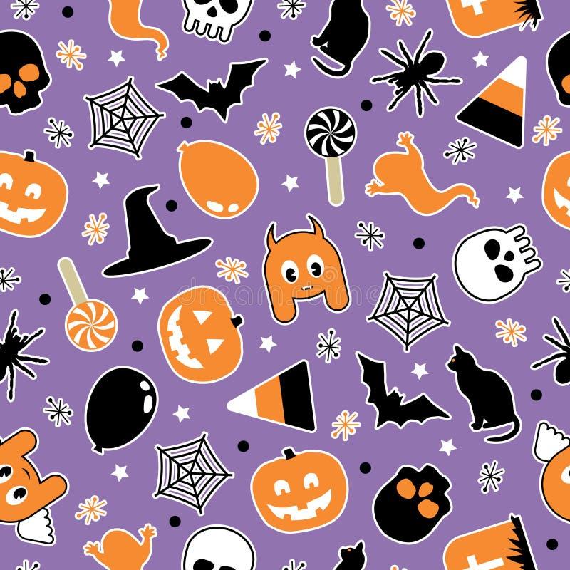 Halloween-Muster lizenzfreie abbildung