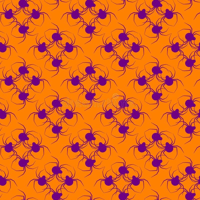 Halloween-Muster-Spinne lizenzfreie stockbilder
