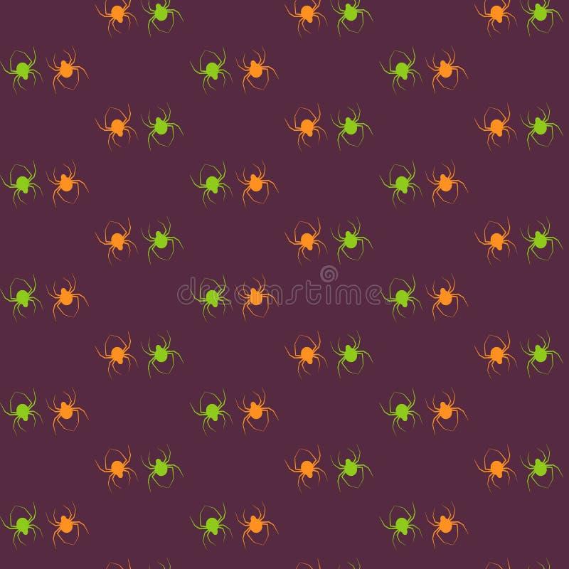 Halloween-Muster-Spinne lizenzfreie stockfotos