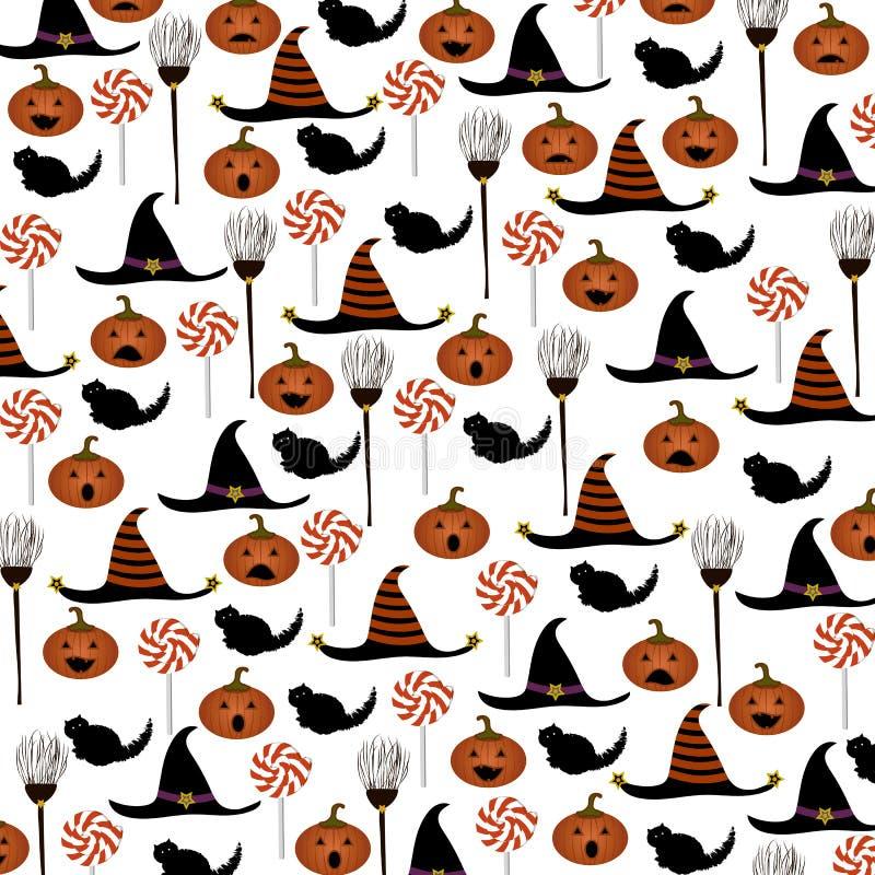 Halloween-Musterhintergrund Auch im corel abgehobenen Betrag lizenzfreies stockbild