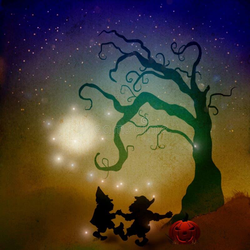 Halloween na polu royalty ilustracja