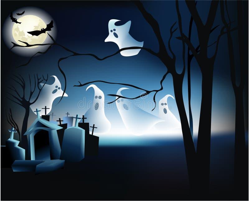Halloween-Nacht stock abbildung