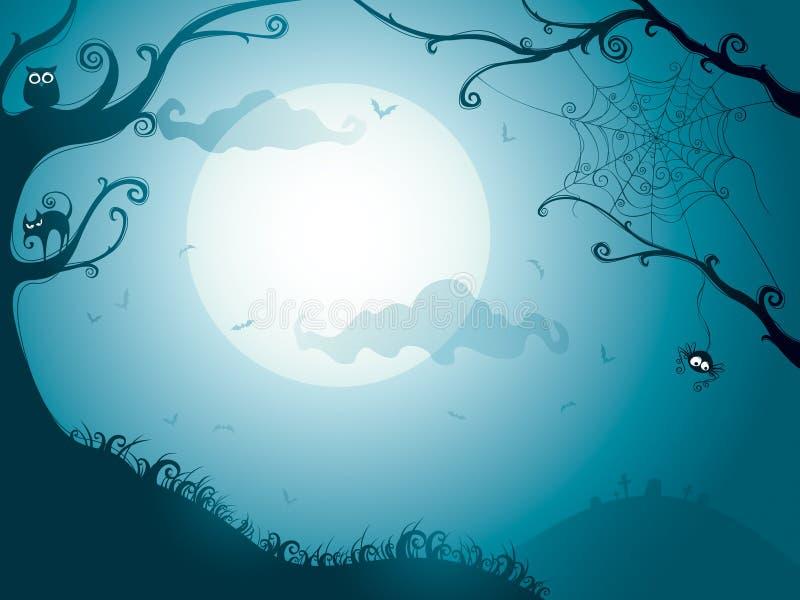 Halloween-Nacht vektor abbildung