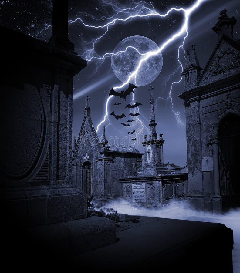 Halloween-Nacht lizenzfreie abbildung