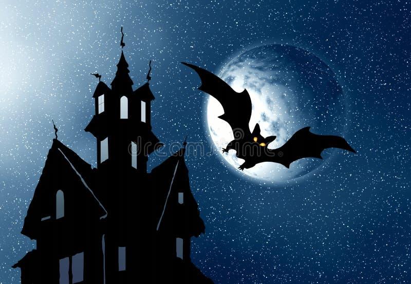 Halloween. Nacht royalty-vrije illustratie