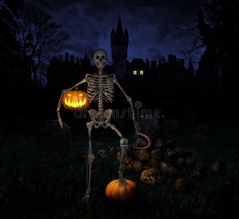 Halloween-nacht stock afbeelding