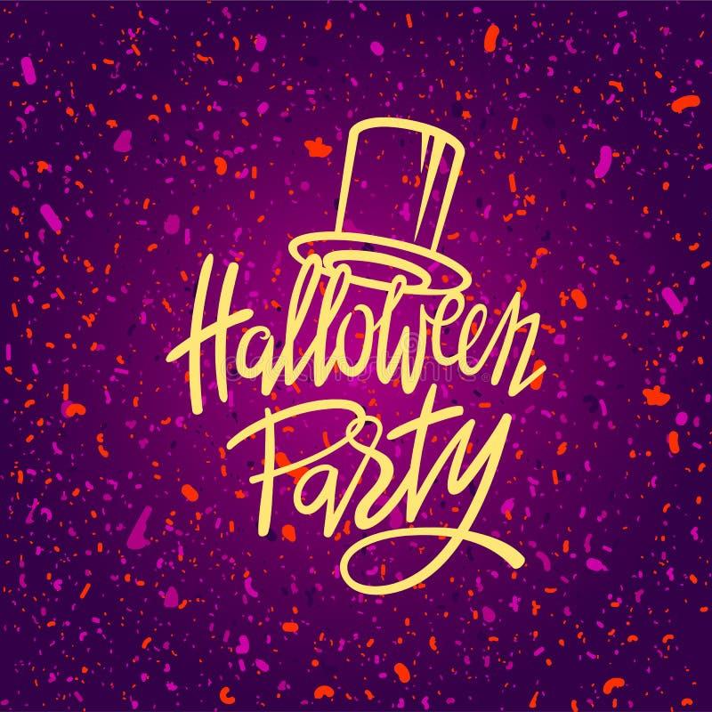 Halloween-Nachtparteiplakat, Kartenschablone lizenzfreie abbildung