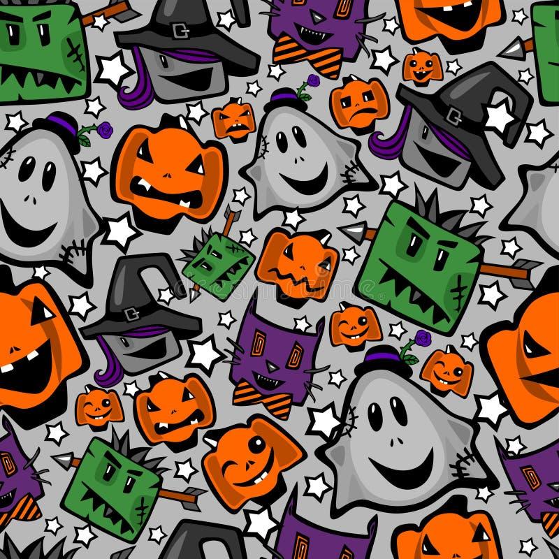 Halloween, nahtlose Beschaffenheit lizenzfreie abbildung