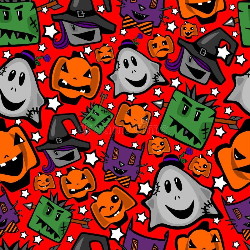 Halloween, nahtlose Beschaffenheit stock abbildung