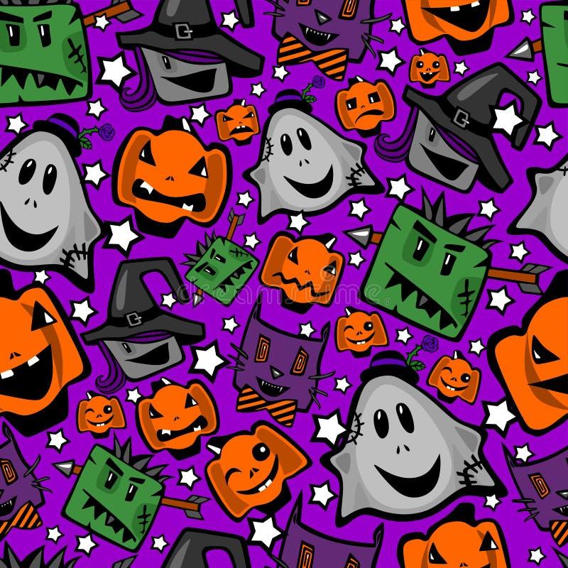 Halloween, nahtlose Beschaffenheit vektor abbildung