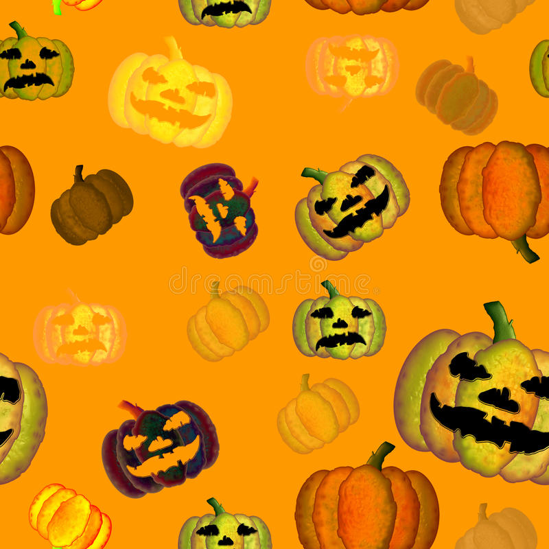 Halloween-nahtlose Fliese vektor abbildung