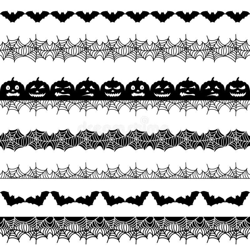 Halloween-nahtloser Rand lizenzfreie abbildung