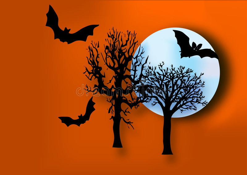 halloween natt vektor illustrationer