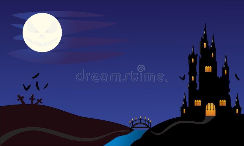 halloween natt royaltyfri bild