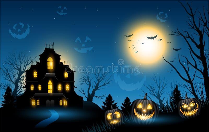 Halloween nawiedzał domowego copyspace tło ilustracji