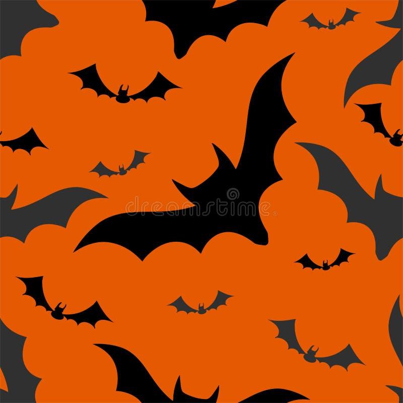 Halloween nietoperzy bezszwowy wzór ilustracja wektor