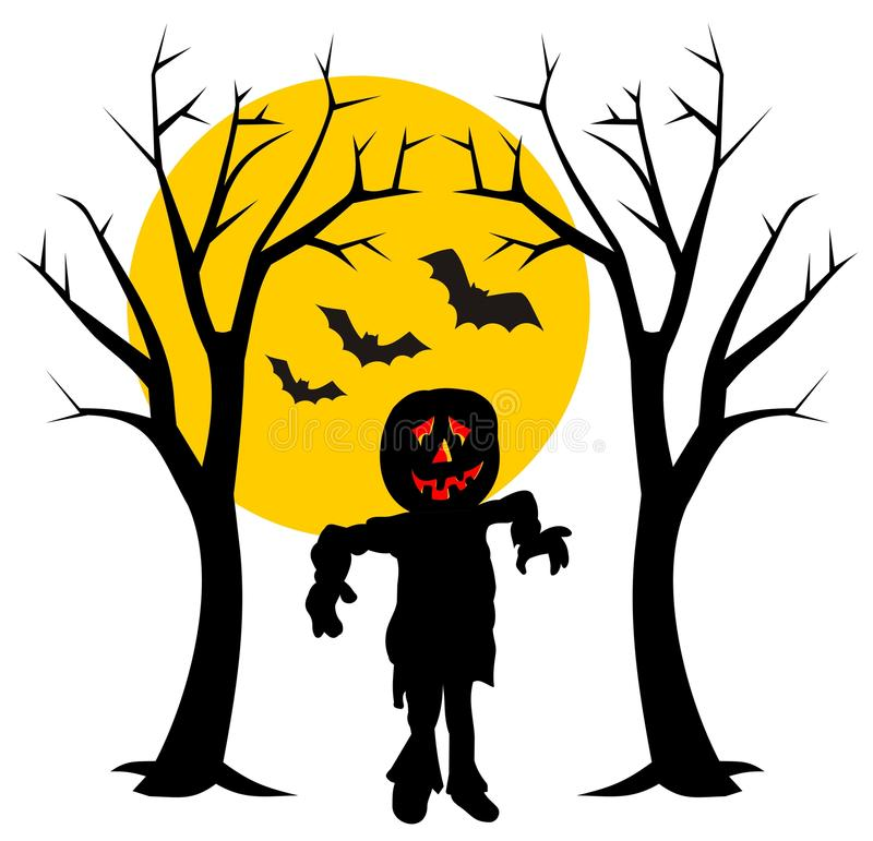 Download Halloween night stock vector. Image of witch, night, spooky - 11164266