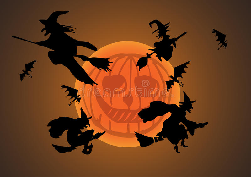 Download Halloween night stock vector. Illustration of evil, silhouette - 15999727