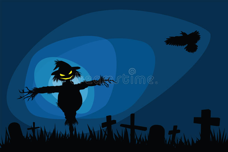 Halloween night stock illustration