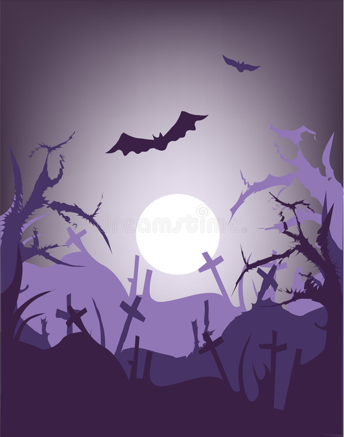 Download Halloween night stock illustration. Image of graves, holiday - 1830563