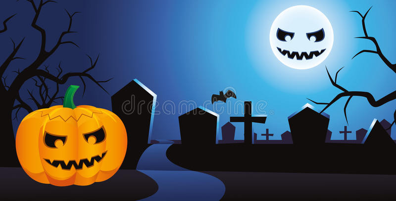 Download Halloween night stock vector. Image of branches, danger - 21374450