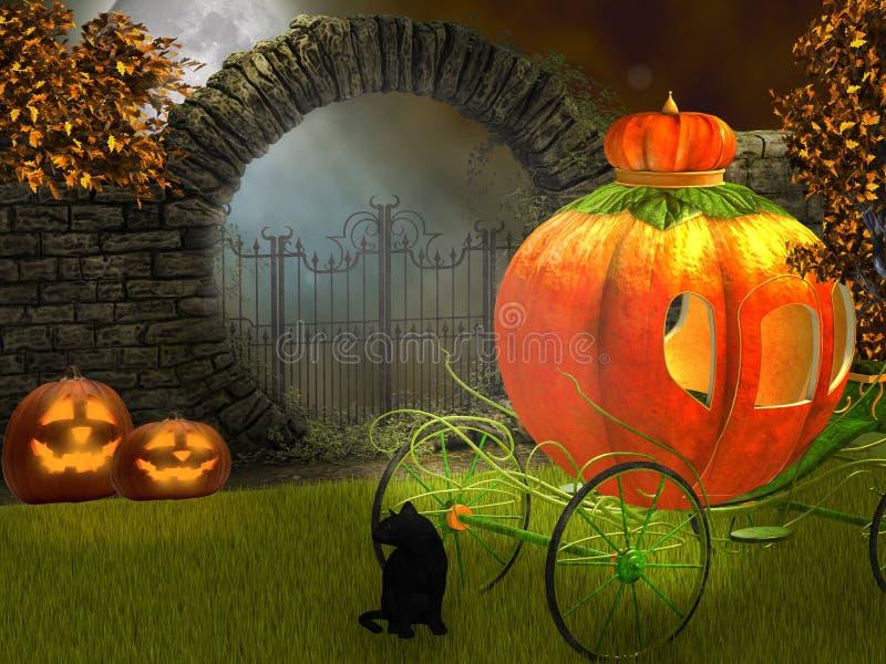 Halloween night vector illustration