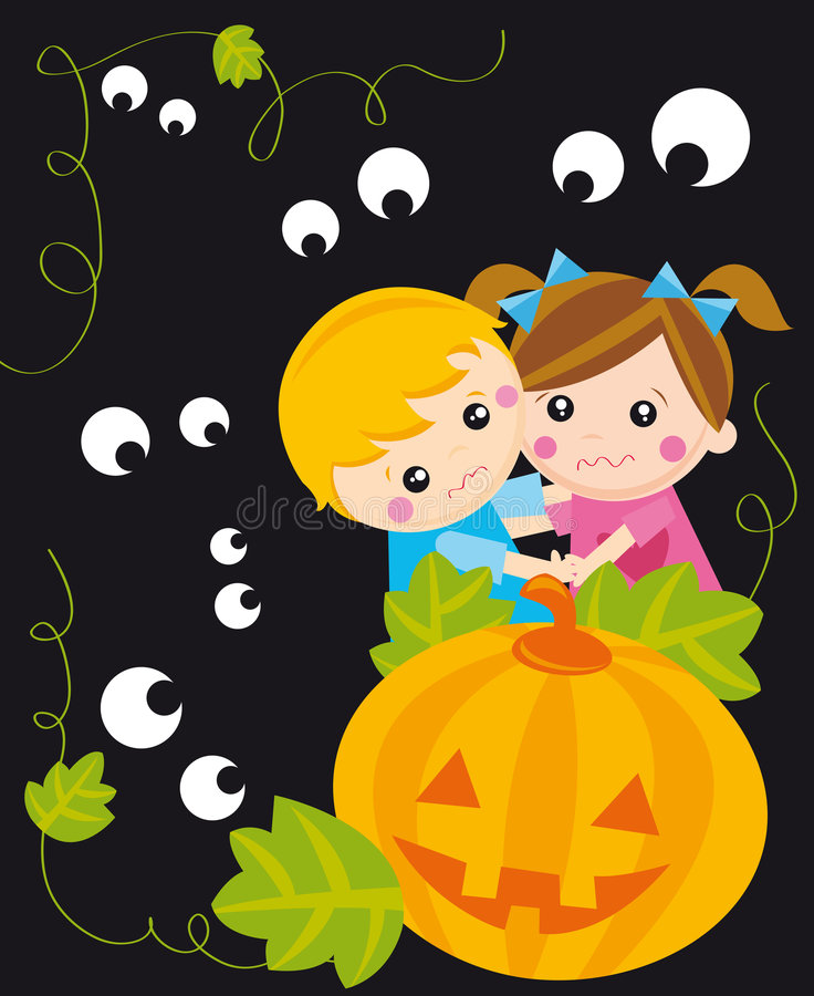 Download Halloween night stock vector. Image of festivity, pumpkin - 6558623