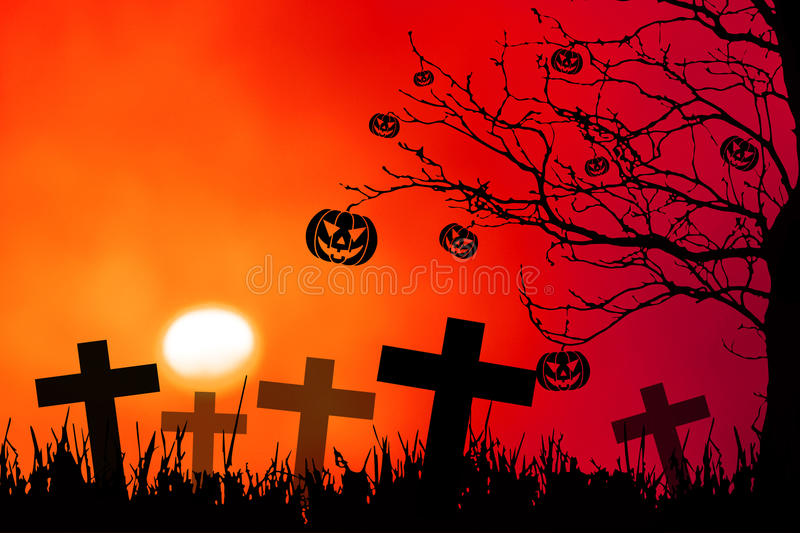 Halloween night background royalty free illustration