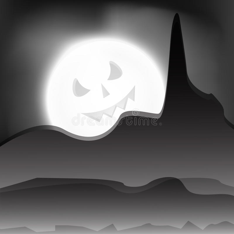 Download Halloween night background stock vector. Image of greetings - 26645963